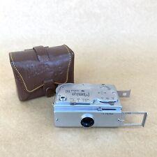 Mamiya Super 16Subminiature Spy Film Camera W/ Leather Case - NICE
