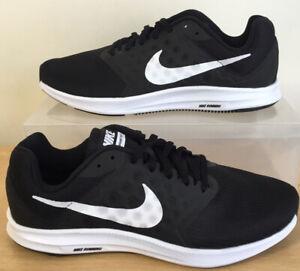 NEW Mens Nike Downshifter 7 Black /White Trainers UK Size 7.5 EU 42 (852459-002)