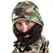 01d679e7b5d Bushy Duke - Beard Head - Black Bushy Beard + Camo Beanie