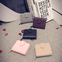 Womens Fashion PU Leather Small Wallet Card Holder Zip Clutch Coin Purse Handbag
