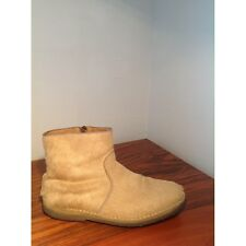 APC Beige Tan Pony Hair Fur Ankle Boot Bootie Womens Flats Mens Shoes 38/8