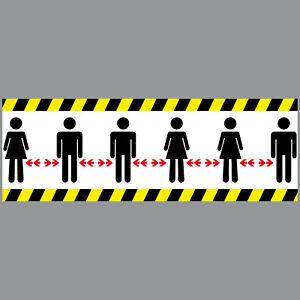 Aufkleber 30cm Sticker Bitte Personen Abstand zueinander halten 4061963052846