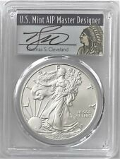 2020 SILVER EAGLE FIRST DAY OF ISSUE PCGS MS70 CLEVELAND HAND SIGNED NATIVE