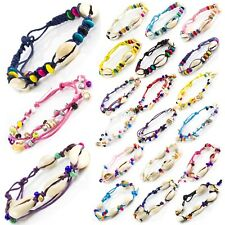 Sea Shell Bead Seashell Cowrie Friendship Bracelet Anklet Summer Beach Festival