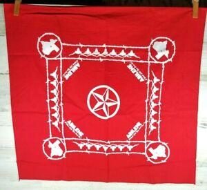 VTG Abilene Red Texas Bandana Handkerchief  A Whole Lotta Texas Goin' On Mint