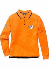Men manga larga camiseta polo, 915400 en Orange 72/74