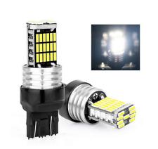 Ampoules T20 Feux De Jour DRL W21/5W Blanc 6500K Veilleuse 45 SMD Auto 7443