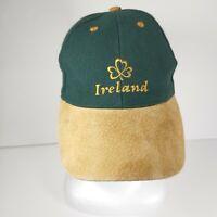 Ireland Irish Baseball Hat Cap Suede Green Brown Shamrock