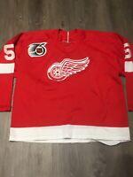 Distressed Vintage Detroit Red Wings Nicklas Lidstrom CCM Jersey Size M