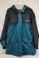 Womens Woolrich Zip Front TEAL Nylon Winbreaker Rain Coat Jacket Sz XL