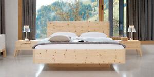 8380 Model Gardena 180 x 200 cm Bett Zirbenholzbett Holzbett Zirbenbett
