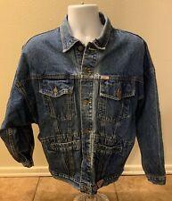Vintage Guess Georges Marciano Blue Jean Jacket Men Large Denim Button Down