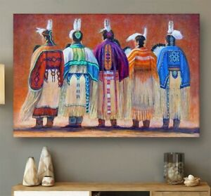 Native American Woman Abstract Style Wall Art Home Decor Poster No Frame