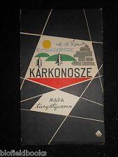 VINTAGE POLACCO MAPPA TURISTICA - 1960-Karkonosze MAPA turystyczna (warzaw, viaggi)