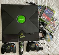 Original Microsoft Xbox Console + Games Bundle with Controllers Leads and Box