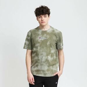 Champion Tie Dye T-Shirt Men's Olive Sportswear Casual Activewear Tee Top