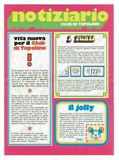 1971 Bulletin Club Di Topolino avec Points, Jolly E Coupon