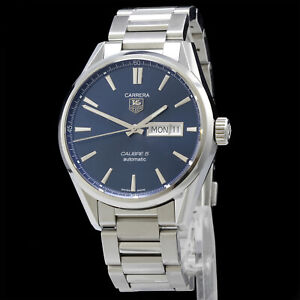 TAG Heuer Carrera Calibre 5 Automatic Date & Day Blue Dial Watch WAR201E