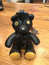 Coach Leather Bear Key Chain Keychain Key Ring - NWT Fuzz