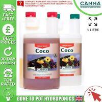 Canna Coco A+B 1L - Veg Flower Grow Bloom Plant Food Base Nutrients A&B 1 Litre