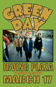 GREEN DAY REPLICA *IRVING PLAZA NYC* 1994 CONCERT POSTER