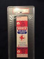 Historic Carlton Fisk Hr PSA 8 FullProof 1975 World Series Ticket Boston Red Sox