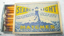 SEARCH LIGHT - IMPREGNATED MATCHES, MADE IN SWEDEN