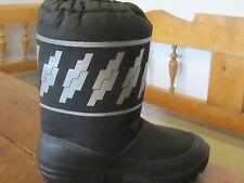 WINTER Apres Ski Boots. Nero con motivo d'argento. EURO Taglia 35/36