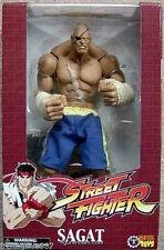 Street Fighter Sagat traje azul figura PVC 26cm Sota Toys