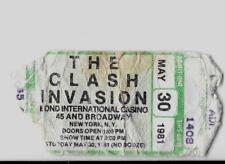 Original Ticket The Clash Live At Bond'S Casino May 30, 1981 Joe Strummer Rare