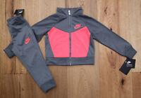 Nike Baby Girl Jogging Set ~ Tracksuit ~ Gray & Neon Pink ~