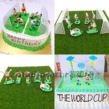 Cake Football Figure Birthday Decoration 9 Soccer Players Toppers Cupcake