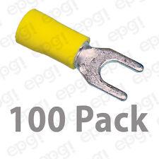 SPADE TERMINAL VINYL #10 YELLOW 10-12 GAUGE #507-100PK
