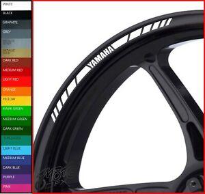 Wheel Rim Stickers Decals - 20 Colors - fazer fz1 fz6 fz8 fzr tdm xjr vmax r1 r6