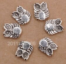 40pcs Tibetan silver double side owl bead loose spacer beads 10x8mm B3184
