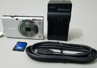 Canon PowerShot A2300 16.0MP Digital Camera - Silver Bundle w/4gb Card & Charger