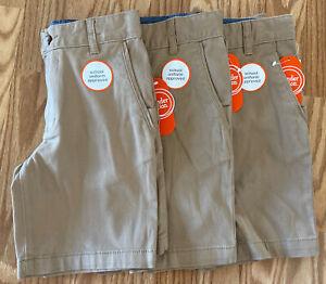 Wonder Nation Boys School Uniform Shorts Lot of Three Size M (8)