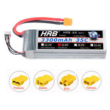 HRB 14.8V 4S 3300mAh LiPo Battery 35C 70C XT60 For FPV HPI Quadcopter Airplane