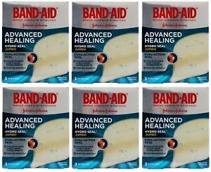 6 x Band-Aid Advanced Healing Hydro Seal Jumbo 3 Hydrocolloid Gel Plaster NEW