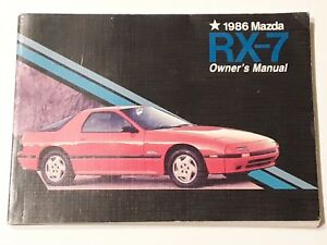 1986 MAZDA RX-7 FC Owner's Manual Factory OEM 86 9999-95-015C-86 Rotary engine