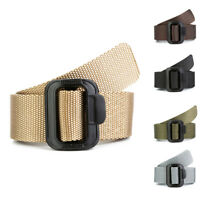 Men's Tactical Military Combat Nylon Canvas Belt Buckle Strap Waistband HOT