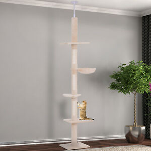 Cat Tree Scratching Post Kitty Tower Activity Center 5-Tier Floor to Ceiling