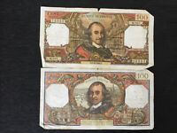 France 100 Cent Francs Banknote 1966 Old Collectible Foreign  Paper Money
