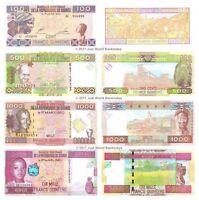 Guinea 100 + 500 + 1000 + 10000 Francs Set of 4 Banknotes 4 PCS UNC