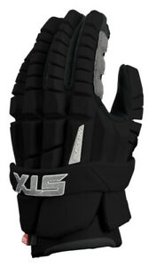"New STX RZR Men's Lacrosse Gloves - Black size 13"" (large)"