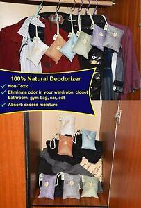 Nature Fresh Air Purifier Bag-12Pack-Charcoal Air Purifying Bag Odor Eliminators