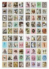 4 Sheets 80pcs Deco Craft Stamp Stickers Diary Scrapbook Gift (Alice Wonderland)