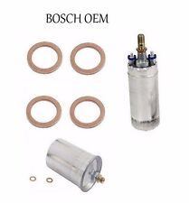 For Mercedes R107 W124 W126 R129 BOSCH OEM Electric Fuel Pump+Seal+Fuel Filter