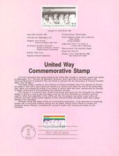 #8714 22c United Way Stamp #2275 USPS Souvenir Page