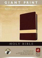 NLT Giant Print Bible (Wine, Gold Tutone LeatherLike, XL Thumb Indexed)